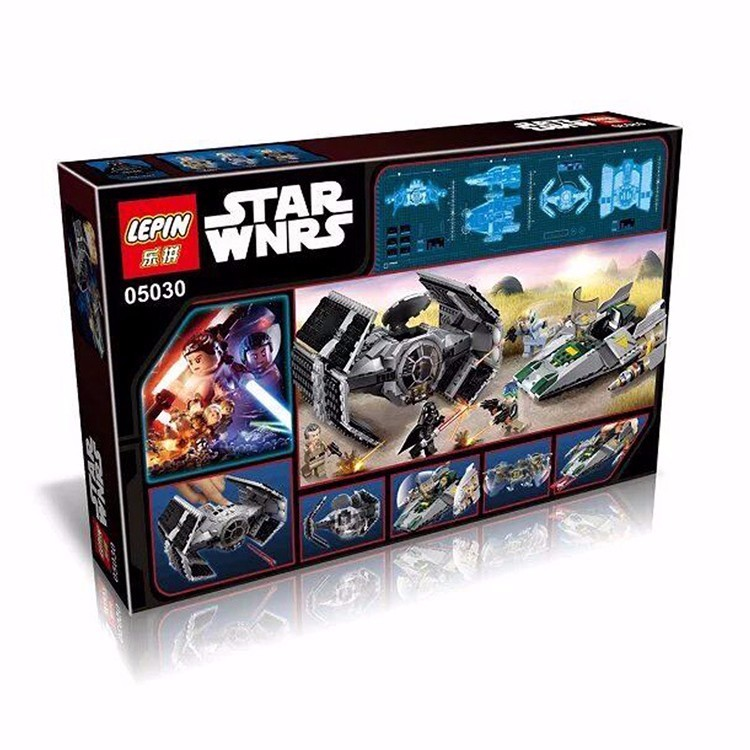 722Pcs LEPIN 05030 Stars Wars Vader\'s TIE Advanced VS A-Wing Starfighter Model Minifigure Building Blocks Compatible with 75150  (14)