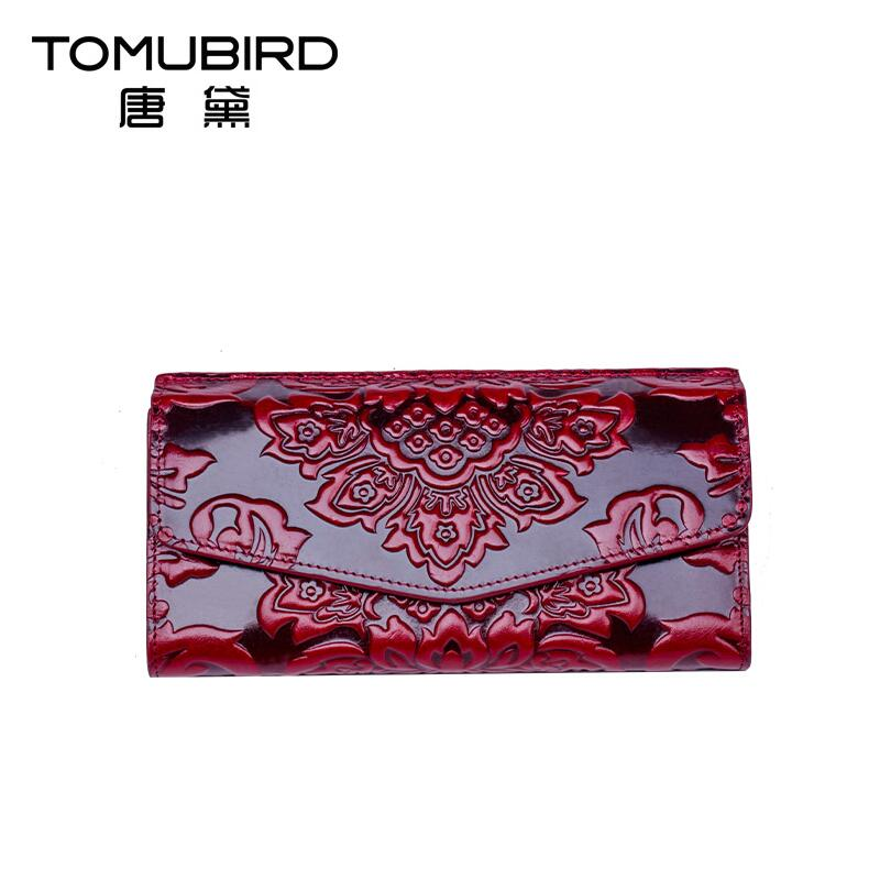 ФОТО Famous brand top quality dermis women bag  National wind wallet long wallet Chinese style embossment wallet card bit multi