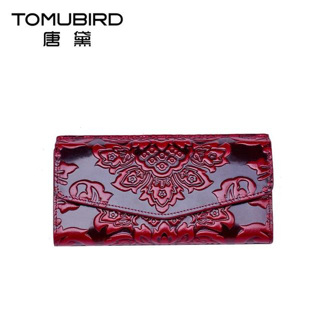 Famous brand top quality dermis women bag  National wind wallet long wallet Chinese style embossment wallet card bit multi