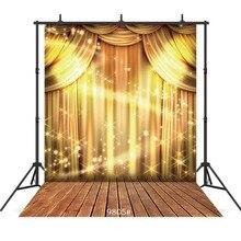 Gold ShimmerและShine Glitterการถ่ายภาพฉากหลังสำหรับงานแต่งงานเด็กพื้นหลังไวนิลถ่ายภาพบูธสตูดิโอ
