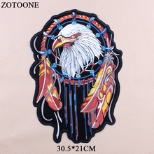 ZOTOONE Big Eagle Patch Jeans Applique Embroidery Punk Animal Patches For Jacket Rock Stickers Clothes DIY T-shirt Accessory G