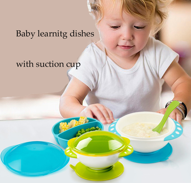 Baby Toddler Learn Dishes with Suction Cup Dining bowl Baby Tableware Kids dinnerware Infant Plastic Suction  sc 1 st  AliExpress.com & Baby Toddler Learn Dishes with Suction Cup Dining bowl Baby ...
