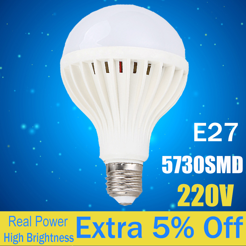 SMD 5730 LED Bulb Lamp E27 3W 5W 7W 9W 12W 220V Cold White/Warm White Lampada Ampoule Bombilla LED high power 12v led bulb smd 5730 portable led lamp outdoor camp tent night fishing hanging light lamparas 3w 5w 7w 9w 12w