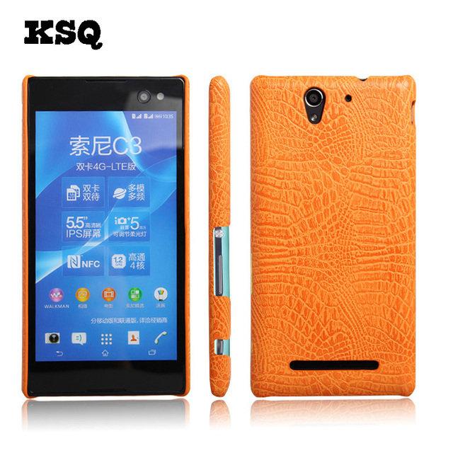 Ksq crocodile pattern pu leather case for sony xperia c3 d2533 55 ksq crocodile pattern pu leather case for sony xperia c3 d2533 55 inch phone case accessories reheart Gallery