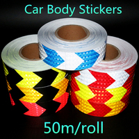 Hot Sale Black Green Blue Red Yellowish Arrow Safety Mark Reflective Tape Self Adhesive Warning Tape