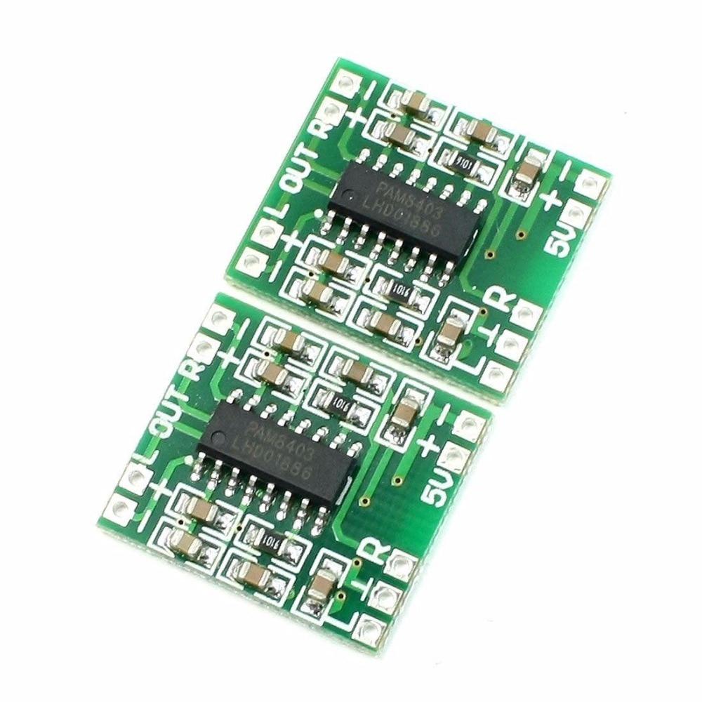2 PCS PAM8403 2X3W Mini Audio Class D Amplifier Board 2.5-5V Input