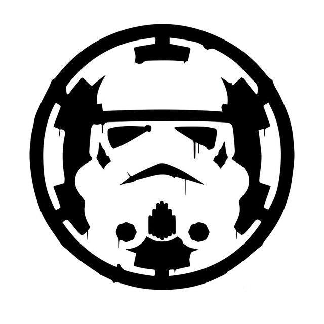 15cm15cm interesting star wars storm trooper cartoon vinyl decal car sticker black silver