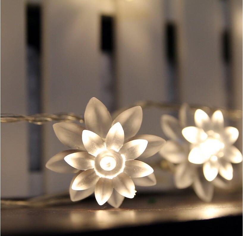 5M 28LED pen Lotus Flower String lyser ferie belysning for - Ferie belysning - Bilde 3