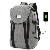 Large Capacity Backpack Men USB Charging Laptop Travel Backpacks Women Purple Bag Headphone Hole Daypack for Teenage Rucksack
