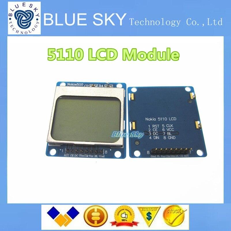 5pcs lot 1 6 Compatible 5110 font b LCD b font Module w Blue Backlit Blue
