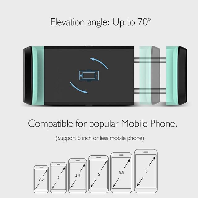 CASEIER Car Phone Holder For Mobile Phone Universal Air Vent + Dashboard Windshield 2 in 1 Car Holders Stand telefon tutucu 3