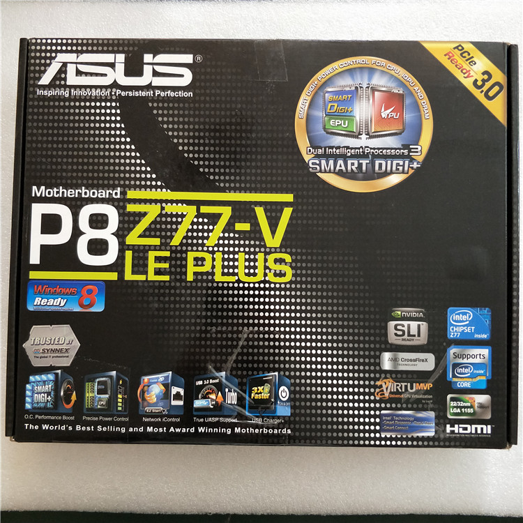 US $183 26 11% OFF|New ASUS P8Z77 V LE PLUS 1155 pin Z77 motherboard USB3  SATA3 support E3 1230 V2-in Motherboards from Computer & Office on