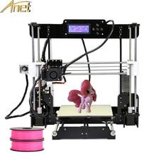 2017 Anet A8 3d imprimante Haute Précision Reprap impressora 3D Imprimante Kit DIY Grande Taille D'impression avec 1 rolls Filament 8 GB SD Carte