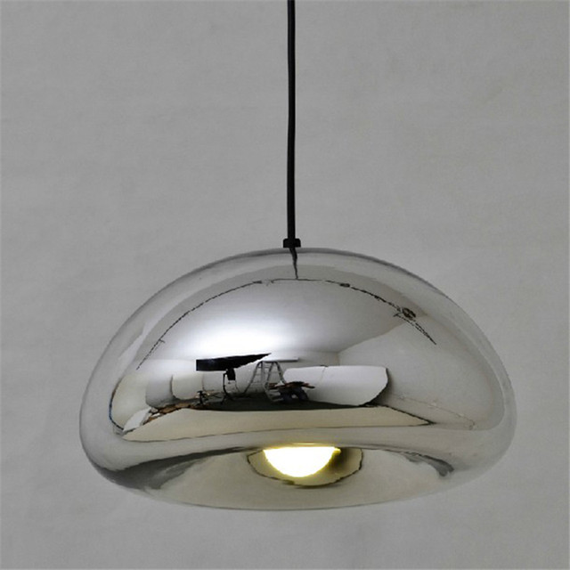 Gold Silver Copper Lampshade Gl Pendant Light Fixtures Modern Lighting Dining Room Nordic Contemporary Kitchen Restaurant
