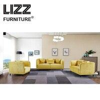 Мебель Casa современный Стиль диван простой Дизайн желтый диван ткань наборы для дома