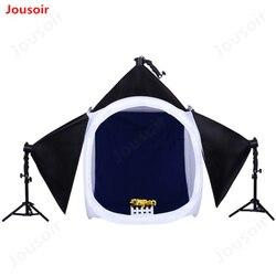 Photo Studio Shooting Tent Light Diffusion Soft Box Kit with 4 Colors Backdrops for Photography&Soft box&LED lighting bulb CD15