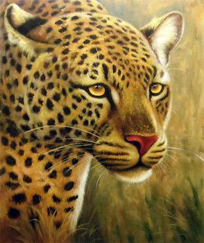Cat Cheetah Lion Tiger Africa Animal Art Oil Painting