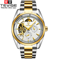 New Arrival Tevise mens Mechanical Watch Full Steel Band Wristwatches Men Brand Fashion Waterproof Gold Color montre homme Hot