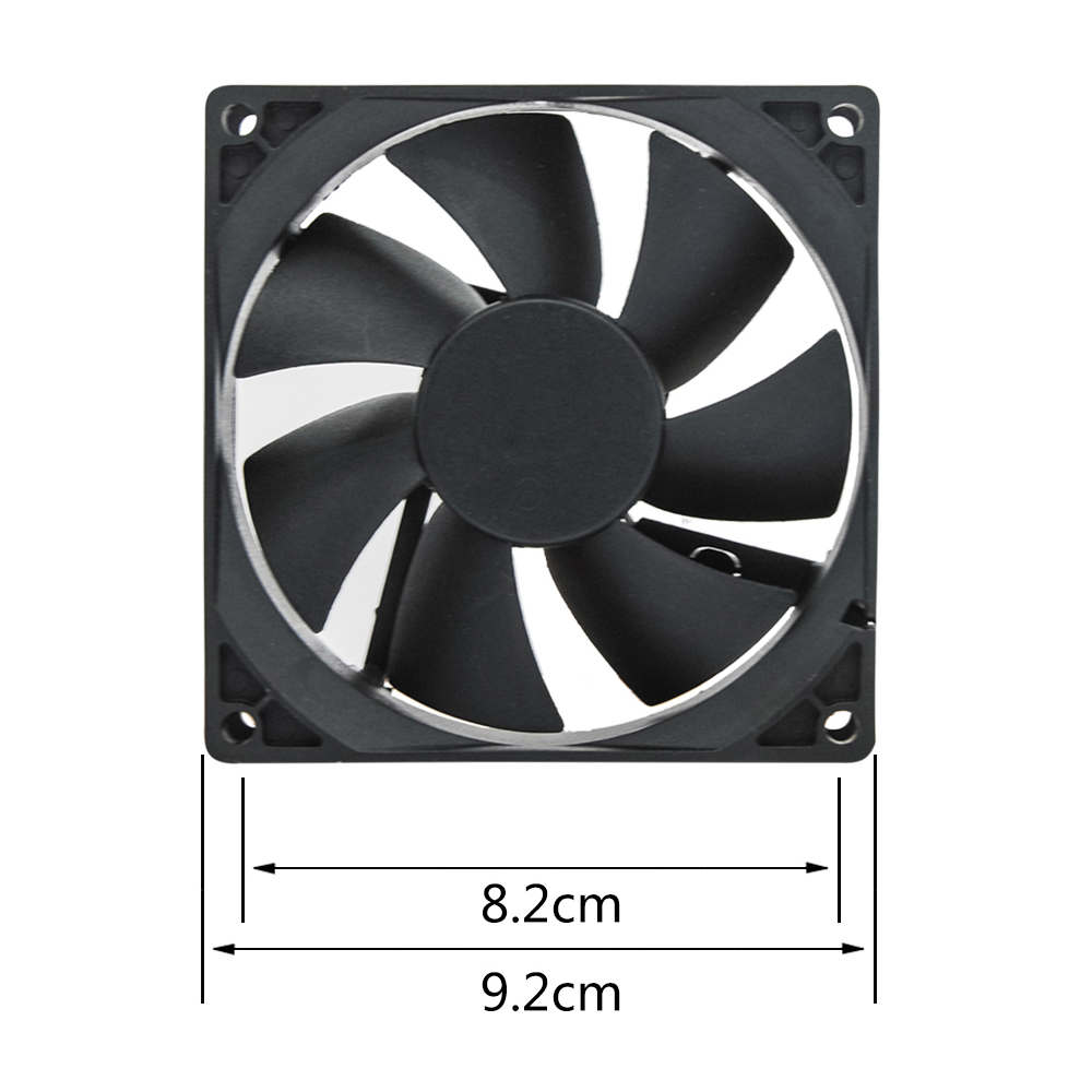 Permalink to 2pcs/pair black color diameter 92mm square shape shower ventilation fan for shower radio and shower room