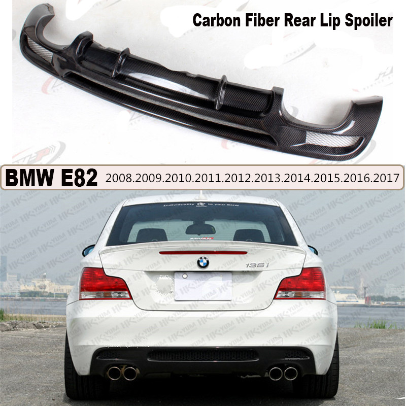 For BMW 1 Series E82 120i 130i 135i 2007-2017 Carbon Fiber Rear Lip Spoiler Auto Bumper Diffuser Car Modification A/B Style