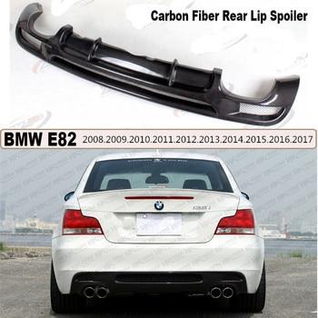 For BMW 1 Series E82 120i 130i 135i 2007-2017 Carbon Fiber Rear Lip Spoiler Auto Bumper Diffuser Car Modification A/B Style