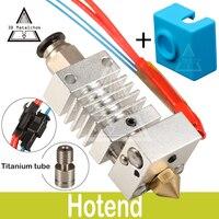 CR10 Hotend Боуден экструдера междугородние Титан сплав тепловой перерыв горло 1,75 мм для Creality CR-10 D принтер микро швейцарской