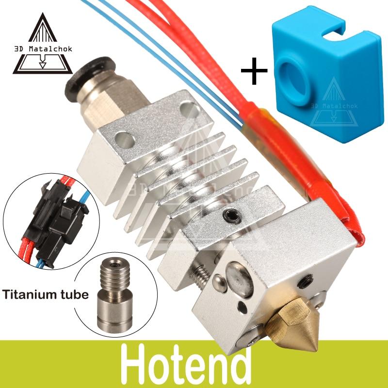 CR10 Hotend Bowden Extruder Long distance Titanium Alloy Heat break Throat 1.75mm for Creality CR-10 D Printer Micro Swiss