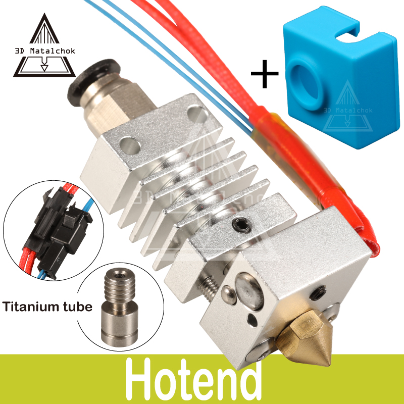 CR10 Hotend Bowden Extrusora de Longa distância de Titânio Liga quebra de Calor Garganta 1.75 milímetros para Criatividade CR-10 D Impressora Micro Suíço