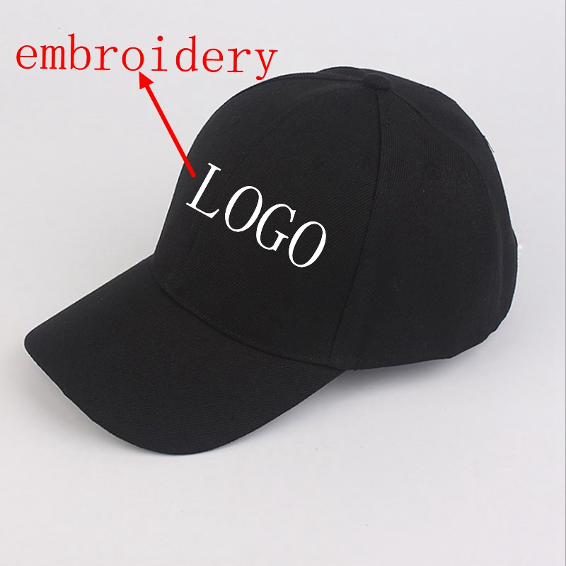WZCX MOQ10pcs Fashion New Custom Logo Embroidery   Baseball     Cap   Casual Solid Color Unisex Adjustable Hip Hop   Cap   Adult   Cap