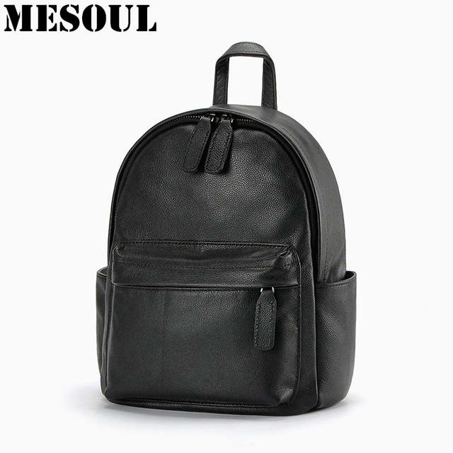 0ec58f2205f9 Online Shop Daily Backpack Girl School Bag Genuine Leather Women Backpacks  Shoulder Bags Fashion Cowhide Student Schoolbag Mujeres Mochila
