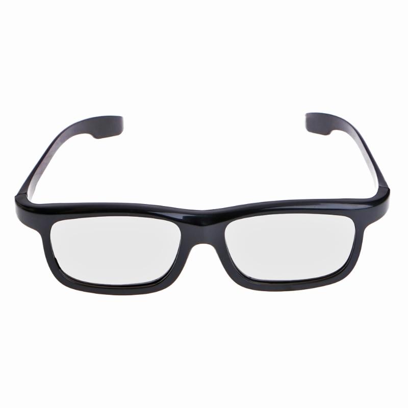 OOTDTY Circular Polarized Passive 3D Stereo Glasses Black RD3 For TV Real D 3D Cinemas L15