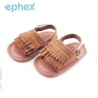 Ephex 2017 Baby Boy Girl Shoes Toddlers First Walkers PU Leather Tassel Cool Crib Slip On