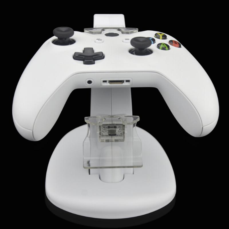 Dual USB Charging Charger Dock Stand Cradle Docking Station for XBOX ONE Game Gaming Console Controller White image