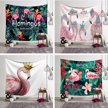 Fashion Pink Flamingo Design Wall Windows Decorative Mandala Tapestry Nordic Style Beach Carpet