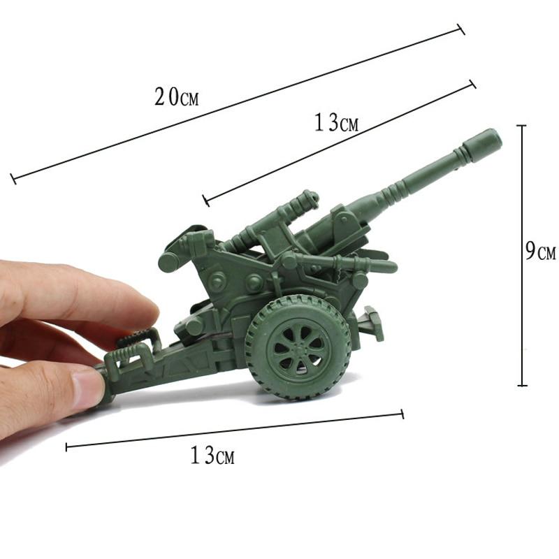 Single pipe chase howitzer canon accessoires de combat soldat nostalgique enfants modèle kit Militaire Modèle 1pcs / set Livraison Gratuite