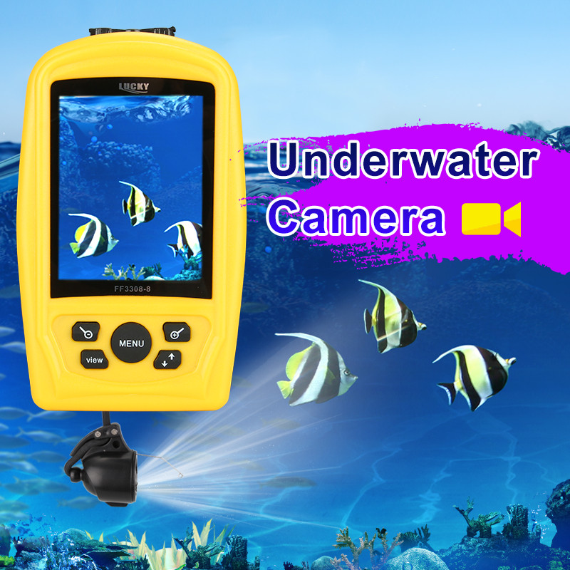 LUCKY FF3308-8 Portable Underwater Camera Fishing Inspection System CMD sensor 3.5 inch TFT RGB Waterproof Monitor 20M Cable #B9 lucky chance in may men shandbags 8