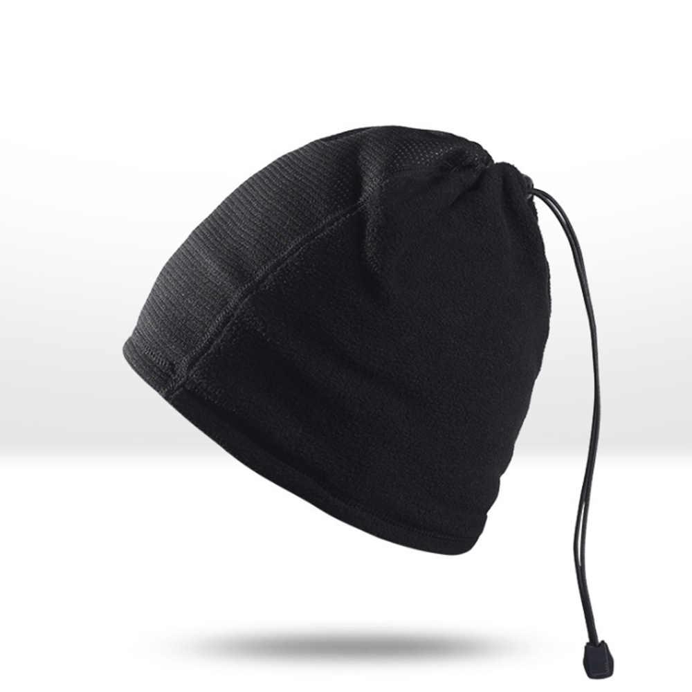 Велосипедный зимний шарф лицо полная маска шеи с шапками Набор Открытый Велоспорт Лыжный Спорт мужские спортивные шапки теплая флисовая шапка головной убор