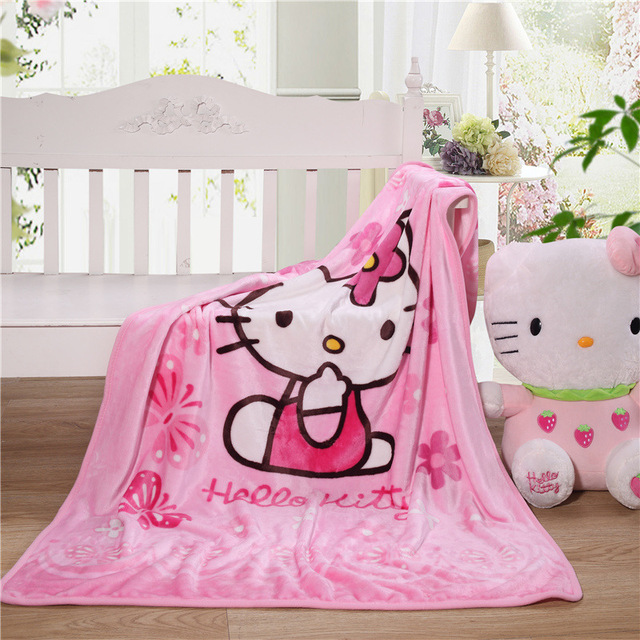 100x140cm Kids/Baby Nursing Blankets Flannel Throw Blanket Coral Fleece Portable Blankie Swaddling Wrap for Strolling Throw