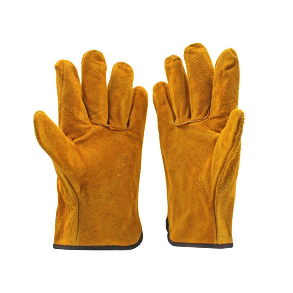 Anti-Heat-Work Welder-Gloves Hand-Tools Fireproof Metal For Pair/Set Durable