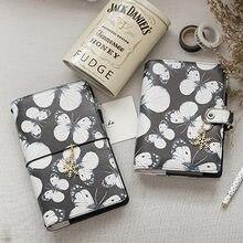 Lovedoki noir papillon PU cuir spirale cahier Scrapbook balle journal A5 A6 planificateur journal Standard carnet de voyage Yiwi