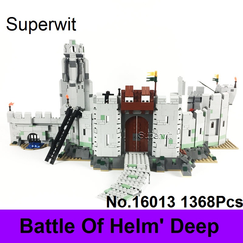 Superwit 1368Pcs Lepin 16013 The Lord of the Rings Series The Battle Of Helm' Deep Figure Model Building Blocks Bricks 9474 Gift hot sale the hobbit lord of the rings mordor orc uruk hai aragorn rohan mirkwood elf building blocks bricks children gift toys