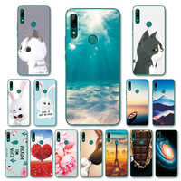 """Für Huawei P Smart Z STK-LX1 Mode Verschiedene Fall Zurück Abdeckung Fundas Für Huawei Y9 Prime 2019 6,59 """"Nette katze Telefon Shell Capa"""