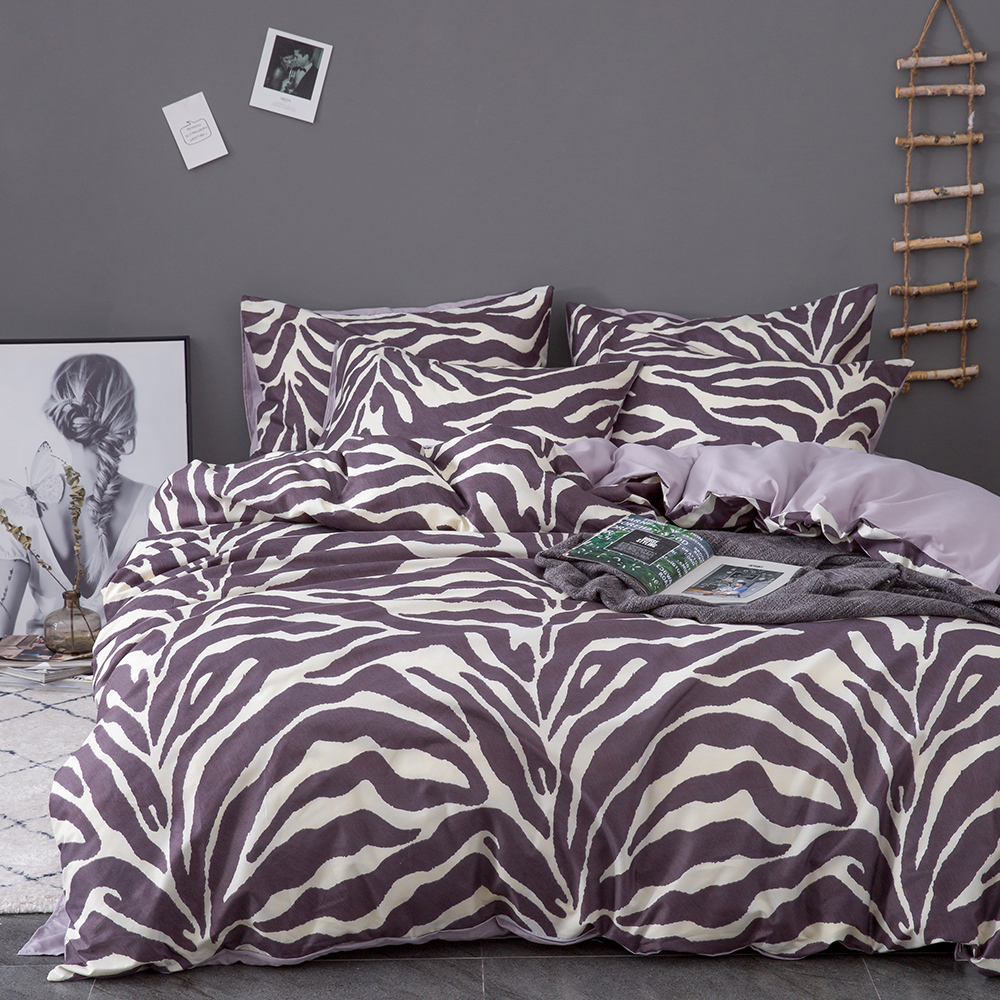 How Big Is A Queen Size Bed Uk Sunnyrain 3 Piece Zebra Stripe Duvet Cover Set King Size Bedding Set Queen Bed Uk Us Twin Size Kids Bedding Sets