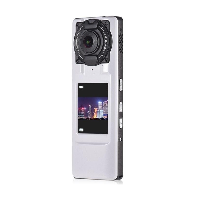 360 degrés Hd 4 K qualité double caméra Ultra Hd Wifi Vr caméra panoramique portable caméra vidéo avec double objectif 2.0 pouces Lcd Displa