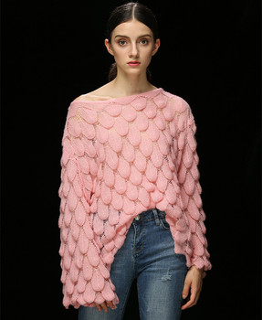 Hollow Out Perspective Loose Knitted Sweaters
