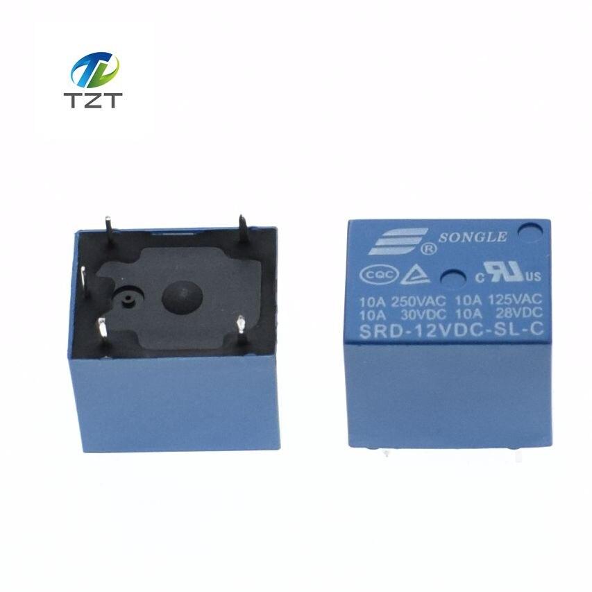 SLA-12VDC-SL-C 12V DC SONGLE Power Relay PCB Type