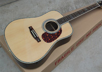 Factory Custom Firehawk 41'' Solid Spurce Top Abalone Inlay Maple Back Side Acoustic Guitar can add Fishman EQ