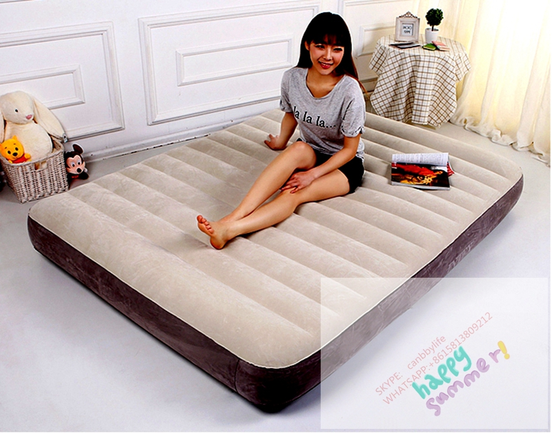 buy newest intex queen airbed dura beam inflatable single high camping mattress deluxe fiber tech inflatable bed from reliable