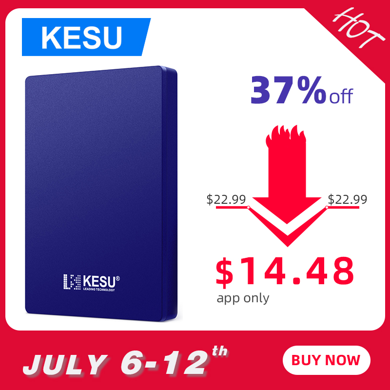 Blue Color KESU External Hard Drive Disk USB3.0 SATA Portable HDD Compatible