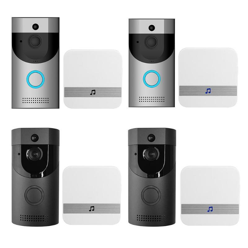 Anytek B30 Sans Fil WiFi Interphone Vidéo Sonnette Caméra + B10 Sonnette Récepteur Ensemble Porte Cloche Caméra Wifi Vidéo Nuit Vision
